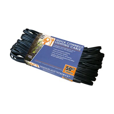 10 Sockets Lighting Cable 50 Feet 14 Gauge