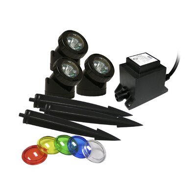 Alpine Power Beam Light Only 23' Cord with Color Lenses and Stake - Size: 3 Lights, Bulb Type: 20 Watt, Transformer: With Transformer at Sears.com