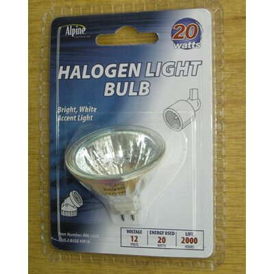 GU4/Bi-pin Halogen Light Bulb Wattage: 20W