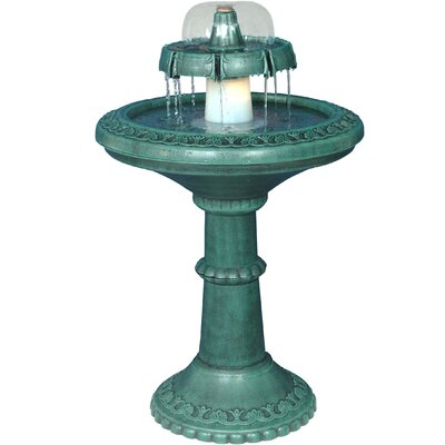 2 Tiered Resin Fountain With Light