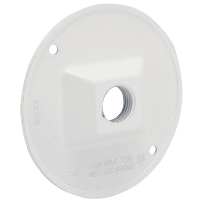 Single Outlet Weatherproof Round Lampholder Color: White