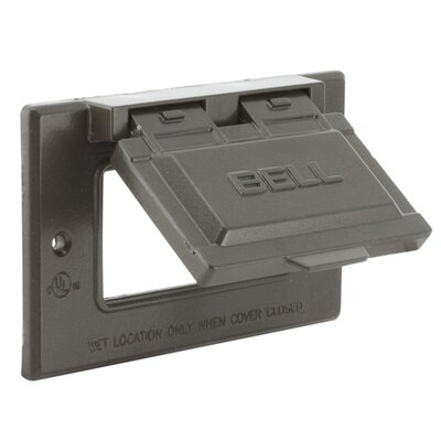 Single-Gang Weatherproof GFCI Box Cover Color: Bronze