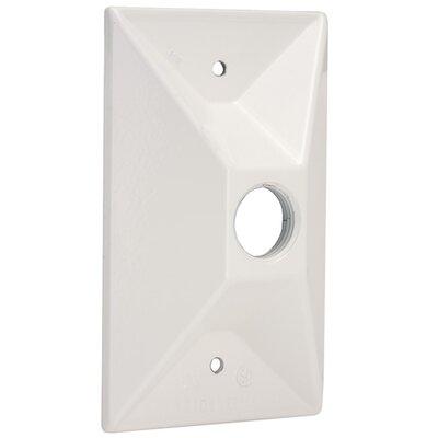 Single Outlet Weatherproof Rectangular Lampholder Color: White
