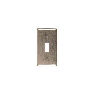 Single Gang Steel Single Toggle Wallplate