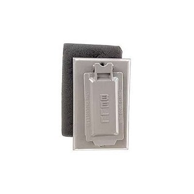 Single Gang Weatherproof GFCI Box Cover Color: Gray