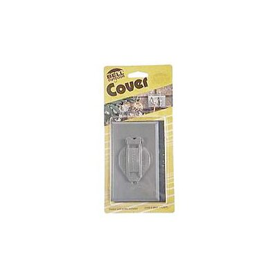 Single Gang Weatherproof Device Box Cover Color: Gray