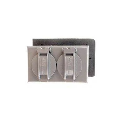 Single Gang Weatherproof Duplex Box Cover Color: Gray