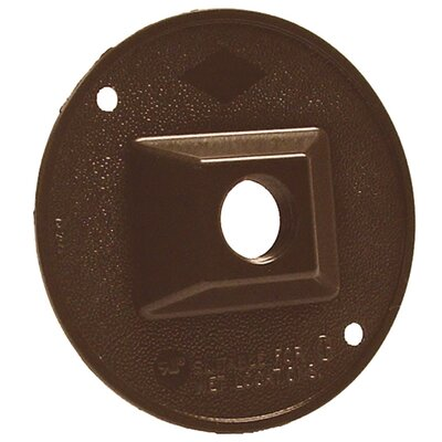 Single Outlet Weatherproof Round Lampholder Color: Bronze