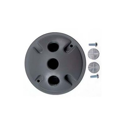 Triple Outlet Weatherproof Round Lampholder Color: Gray