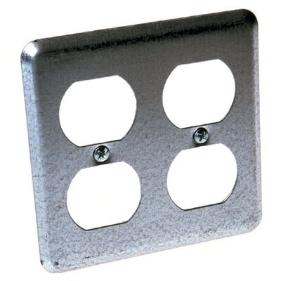 Square 2 Duplex Receptacles Box Cover