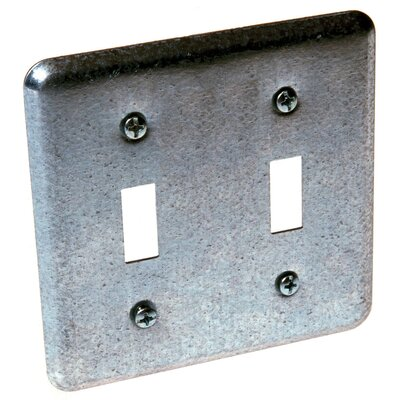 2 Device Switch Box Cover with 2 Toggles