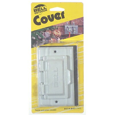 Single-Gang Weatherproof GFCI Box Cover Color: White