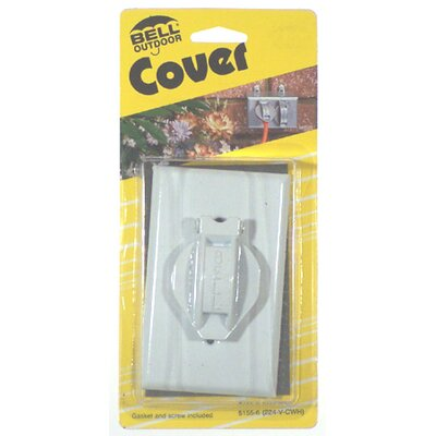 Single Gang Weatherproof Device Box Cover Color: White