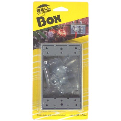 Single Gang Weatherproof Box Color: Gray