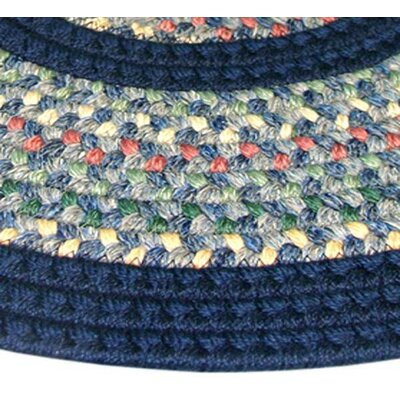 Pioneer Valley II Meadowland Blue with Dark Blue Solids Multi Runner Outdoor Rug Rug Size: Runner 23 x 9