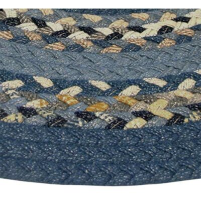 Minuteman Blue Multi with Dark Blue Solids Multi Runner Rug Rug Size: Runner 23 x 9