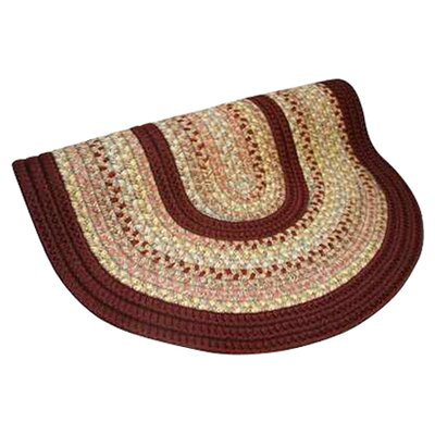 Pioneer Valley II Buckskin with Burgundy Solids Round Outdoor Rug Rug Size: Round 4