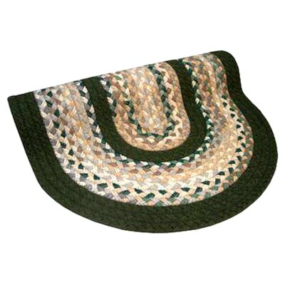 Minuteman Green & Beige Plaid Mix with Olive Green Solids Multi Round Rug Rug Size: Round 4'