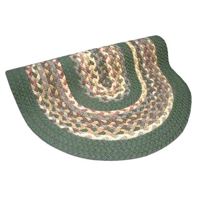 Minuteman Sage Green Solids with Mauve Accents Multi Round Rug Rug Size: Round 4