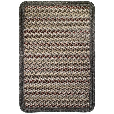Vineyard Haven Sand Dunes/Brown Heather Border Indoor/Outdoor Area Rug Rug size: Square 4