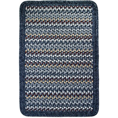 Vineyard Haven South Beach/Blue Heather Border Indoor/Outdoor Area Rug Rug size: 23 x 4