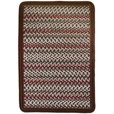 Vineyard Haven Island Cliffs/Solid Brown Border Indoor/Outdoor Area Rug Rug size: 23 x 4