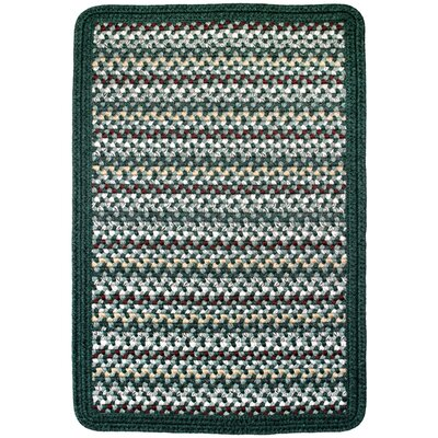 Vineyard Haven Green Meadows/Solid Dark Green Indoor/Outdoor Area Rug Rug size: Square 4