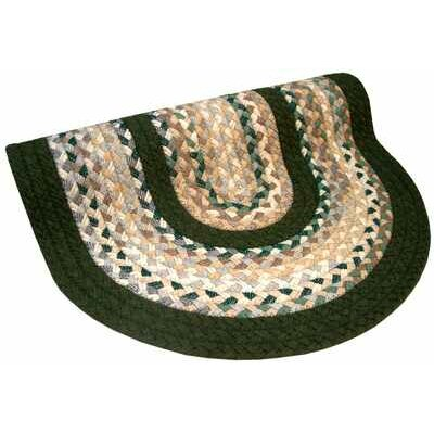 Minuteman Green & Beige Plaid Mix with Olive Green Solids Multi Round Rug Rug Size: Round 76