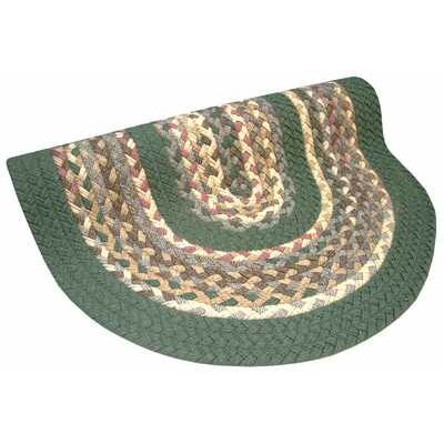Minuteman Sage Green Solids with Mauve Accents Multi Runner Rug Rug Size: Runner 23 x 9