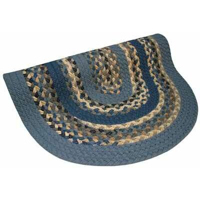 Minuteman Blue Multi with Dark Blue Solids Multi Round Rug Rug Size: Round 86