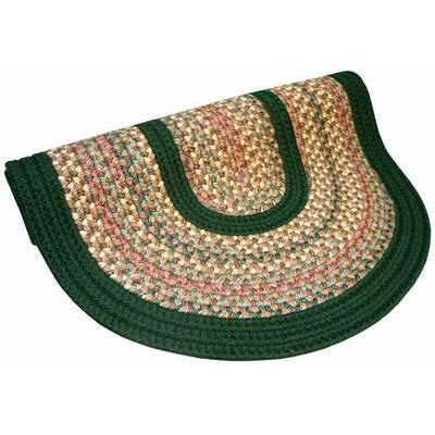 Pioneer Valley II Autumn Wheat with Dark Green Solids Multi Round Outdoor Rug Rug Size: Round 6