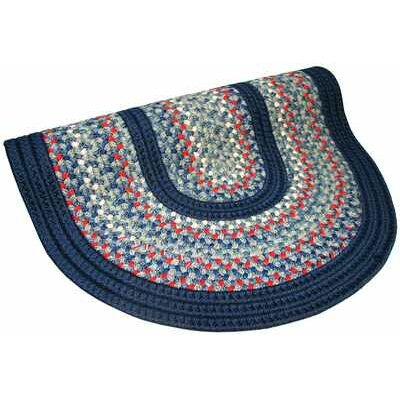 Pioneer Valley II Olympic Blue with Dark Blue Solids Multi Round Outdoor Rug Rug Size: Round 4