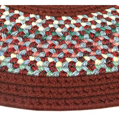 Pioneer Valley II Indian Summer with Burgundy Solids Runner Outdoor Rug Rug Size: Runner 23 x 9