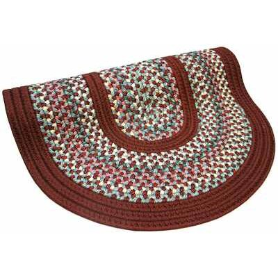 Pioneer Valley II Indian Summer with Burgundy Solids Round Outdoor Rug Rug Size: Round 86