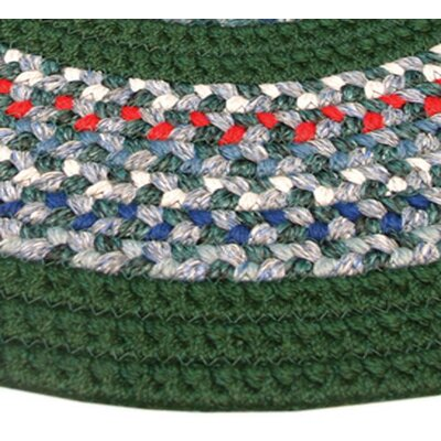 Pioneer Valley II Carribean Blue with Dark Green Solids Multi Runner Outdoor Rug Rug Size: Runner 2'3