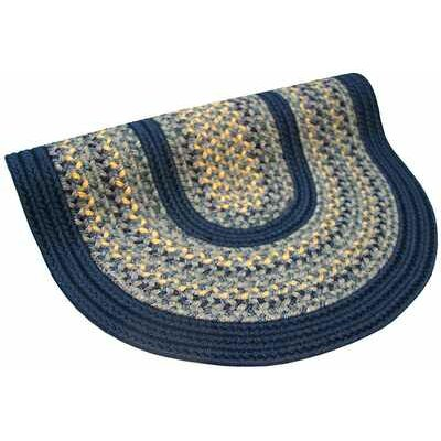 Pioneer Valley II Williamsburg with Dark Blue Solids Multi Round Outdoor Rug Rug Size: Round 4