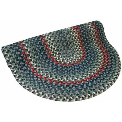 Pioneer Valley II Carribean Blue Multi Round Outdoor Rug Rug Size: Round 6