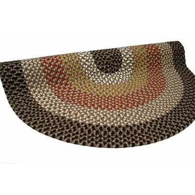 Green Mountain Log Cabin Brown Area Rug Rug Size: Round 4