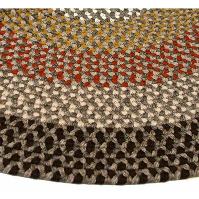 Green Mountain Log Cabin Brown Stripes Area Rug Rug Size: Octagon 8
