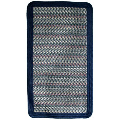 Pioneer Valley II Meadowland Blue with Dark Blue Solids Multi Square Rug Rug Size: Square 4