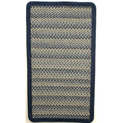 Pioneer Valley II Williamsburg Blue with Dark Blue Solids Multi Square Rug Rug Size: Square 4