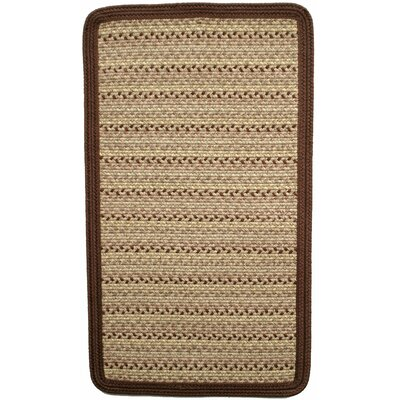 Pioneer Valley II Buckskin with Burgundy Solids Square Rug Rug Size: Square 6