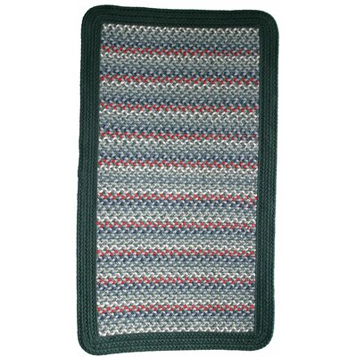 Pioneer Valley II Caribbean Blue with Dark Green Solids Multi Square Rug Rug Size: Square 6