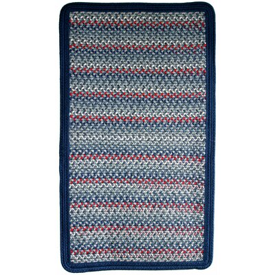 Pioneer Valley II Olympic Blue with Dark Blue Solids Multi Square Rug Rug Size: Square 6