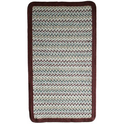 Green Mountain Farmers Market Maroon Area Rug Rug Size: Square 2