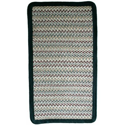 Green Mountain Balsam Fir Green Stripes Area Rug Rug Size: Square 4