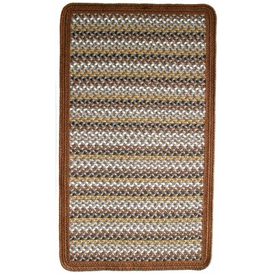Green Mountain Maple Syrup Brown/Tan Striped Area Rug Rug Size: Square 2