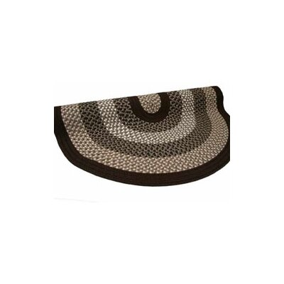 Green Mountain Fudge Brown Stripes Area Rug Rug Size: Round 6