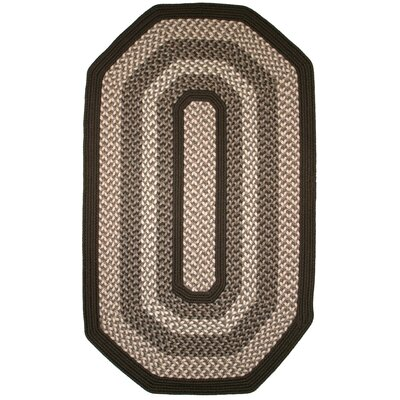 Green Mountain Fudge Brown Area Rug Rug Size: Elongated Octagon 6 x 9