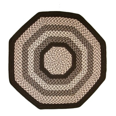 Green Mountain Fudge Brown Area Rug Rug Size: Octagon 10